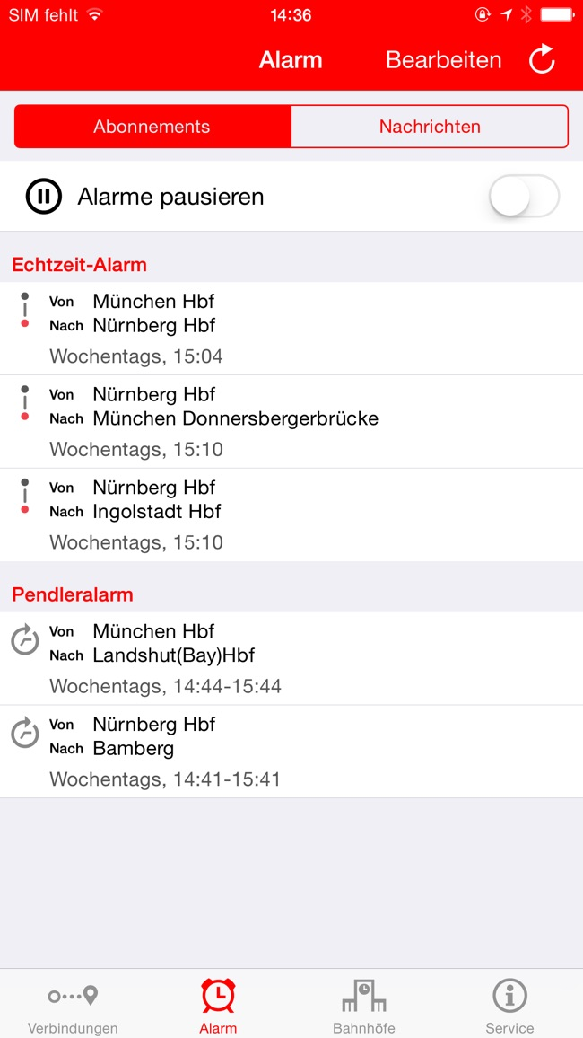 DB Streckenagent Screenshot