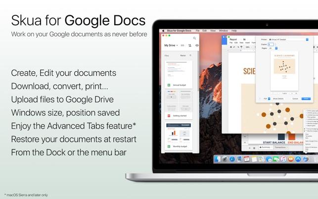 Skua For Google Docs On The Mac App Store