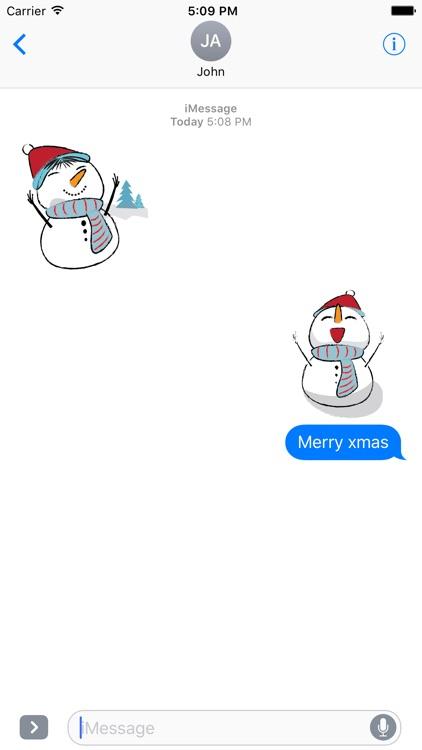 Snowman Stickers - emoji for iMessage