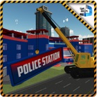 City Construction Police Station & Builder Sim 3d icon