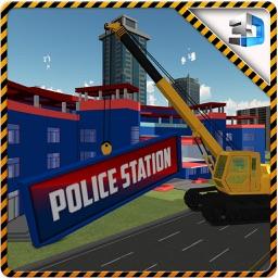 City Construction Police Station & Builder Sim 3d