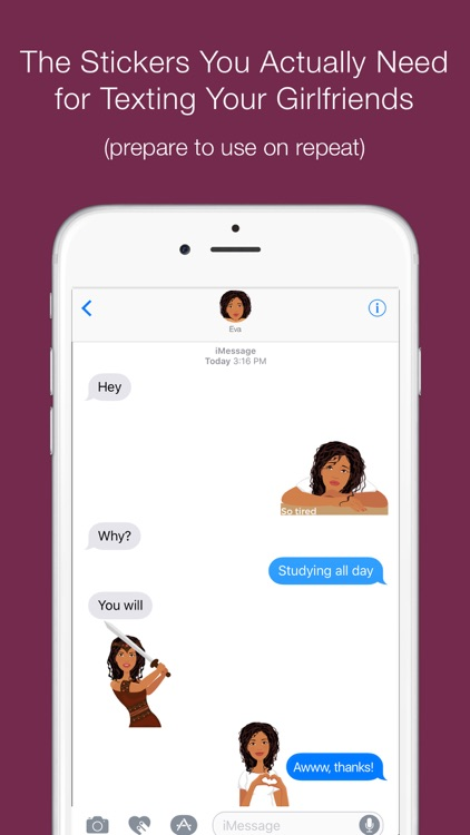 Telle-Eva: Chic stickers for women & girl talk