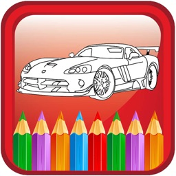 Draw Car Coloring Book Games For Children