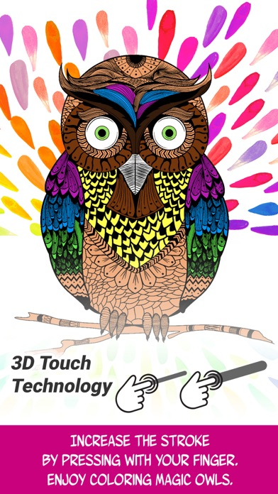 Owl: Discover Magic Coloring Pages for Adults