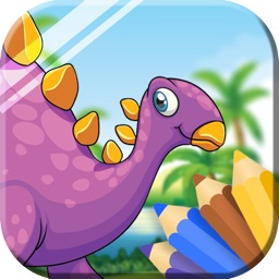 Dinosaur Coloring Book - Coloring Games for Kids &