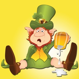 St Patricks Day Leprechaun and Beer Sticker Pack