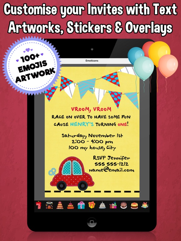 Screenshot 3 For Happy Birthday Invitations Kids Party