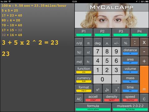 MyCalcApp - náhled