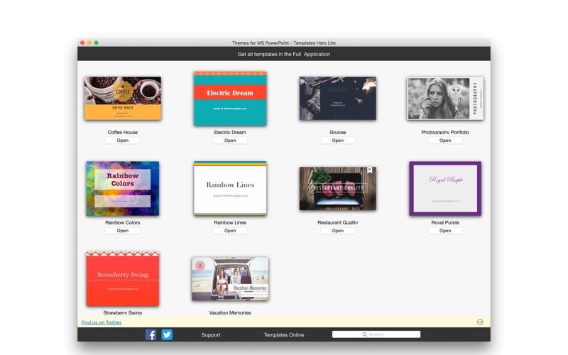 Themes for MS PowerPoint Lite - Templates Hero скриншот программы 5