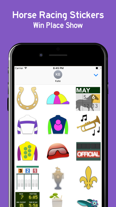 Horse Racing Sticker Pack screenshot one
