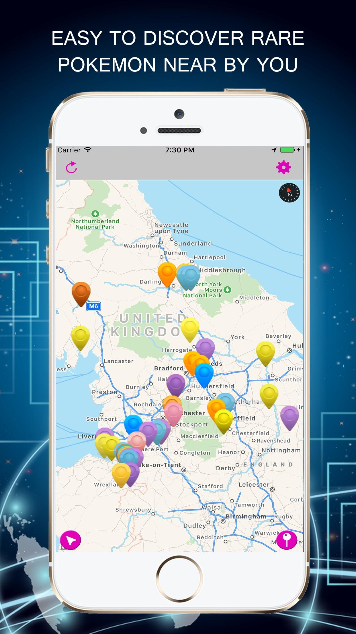 PokeRadar-Poke Radar Go Map Vision For Pokémon GO Screenshot