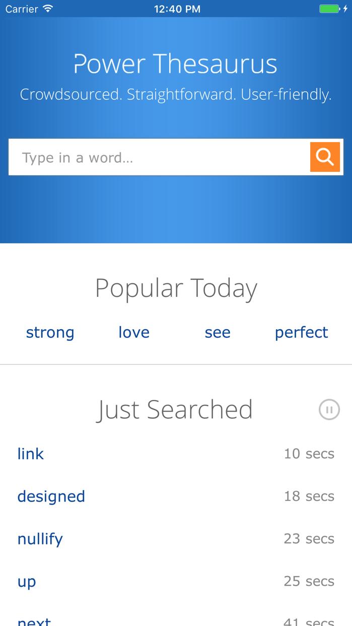 Power Thesaurus Screenshot