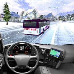Hill Coach Driving Snow Bus Drive Sim 3D
