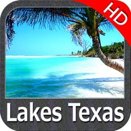 Lakes Texas HD GPS fishing charts & spot offline