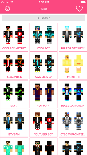 Boy Skin For Minecraft Edition on the App Store