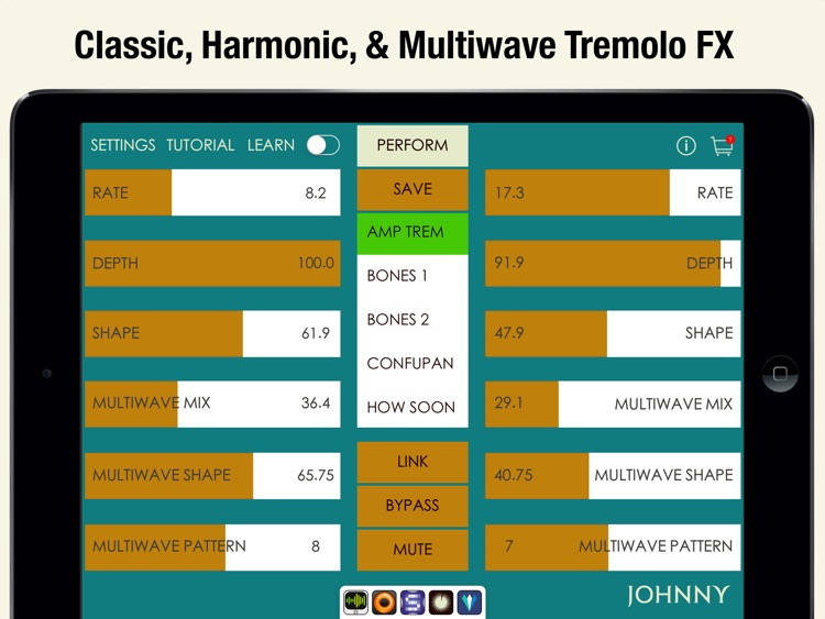 Johnny - Multiwave Tremolo Effects Processor