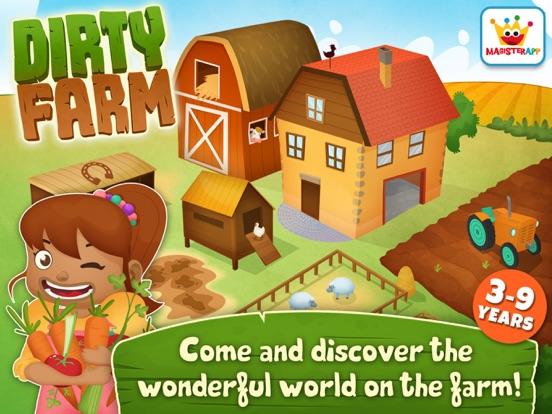 App voor peuters & Dieren Spelletjes: Dirty Farm iPad app afbeelding 1