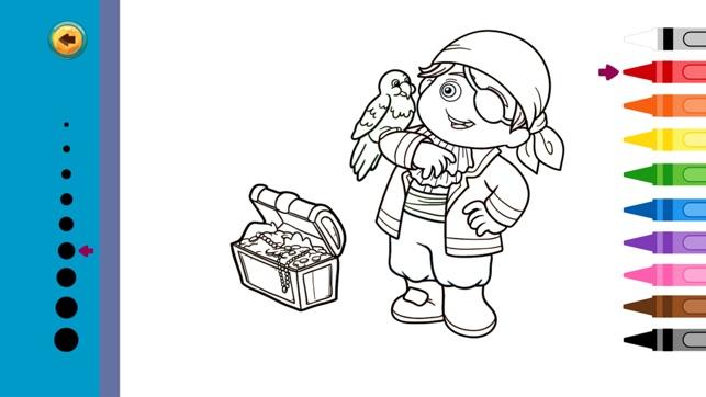 Pirata Libro de colorear : Juego para chico en App Store