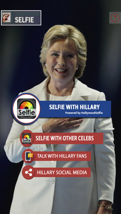 HollywoodSelfie:HillaryClinton screenshot one