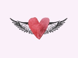 Hipster Angel is a beautiful set of stickers of angels, hearts and wings