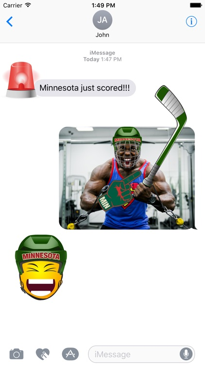 Minnesota Hockey Stickers & Emojis screenshot-1