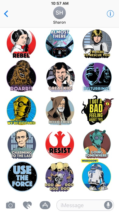 Star Wars Stickers: 40th Anniv screenshot 1