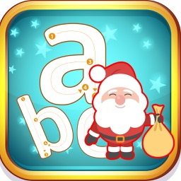 Santa Claus abc Small Alphabets Tracing Learning