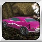 súper coche de color rosa juego de carreras icon