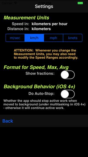 AudibleSpeed (GPS Speed Monitor) - AUDIBLE SPEED Screenshot