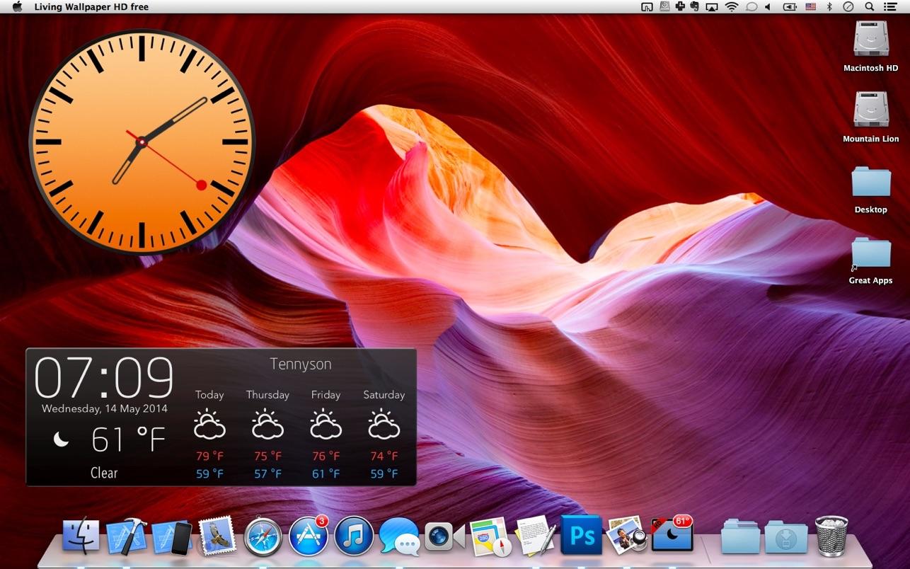 动态壁纸HD+: Living Wallpaper HD 5.1.0 Mac 中文破解版 天气和屏幕保护程序
