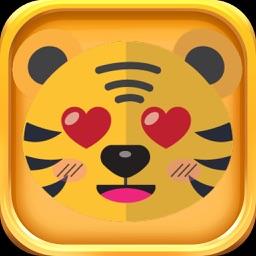 Cute Tiger Stickers - Cute Tiger Emojis