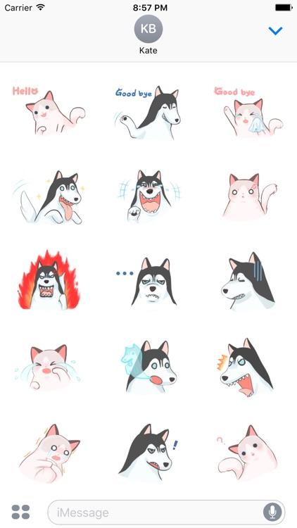 Beauty Dog &  Beast Cat. Stickers by Design73