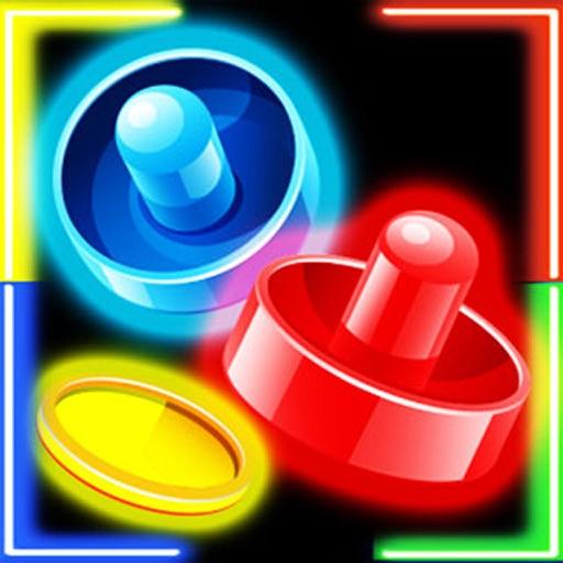 Glow Hockey For 2 Plyer FREE iOS App