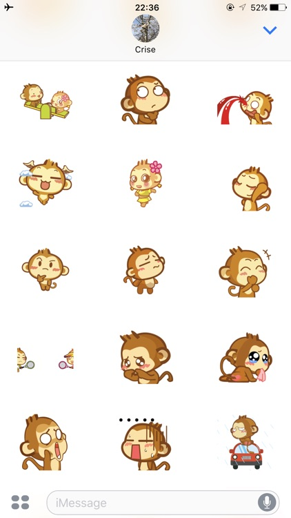 Monkeymoji Stickers for imessages screenshot-3