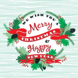 Merry Christmas and Happy New Year Sticker Pack