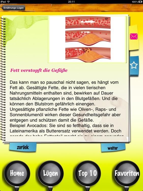 Ernährungs-Lügen - 100 Märchen über gesundes Essen screenshot-3