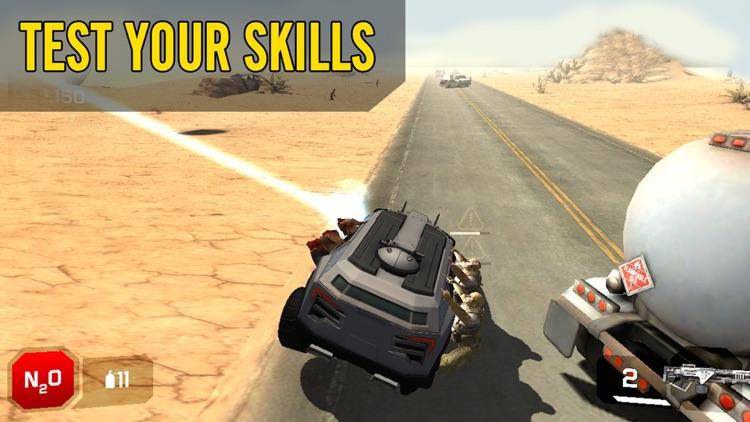 Zombie Smash:Free highway racing & shooting games screenshot-3