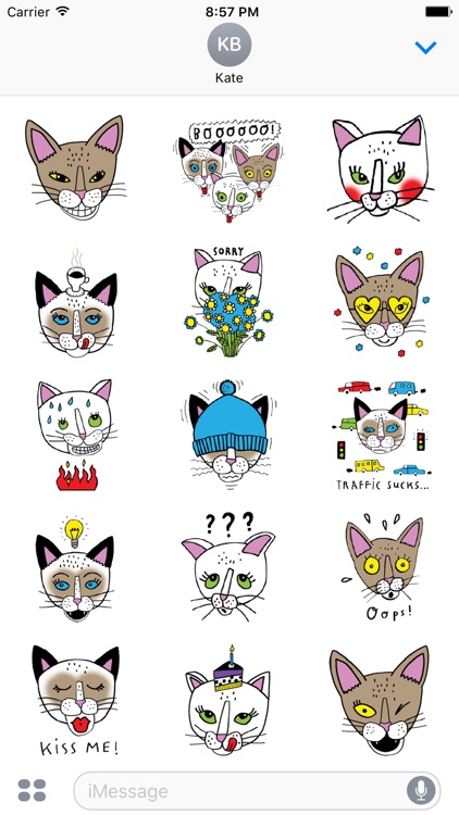 Bastet the Abyssinian Cat. Stickers by Design73