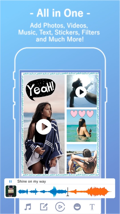 Video Collage Maker with Music, Picture & Text