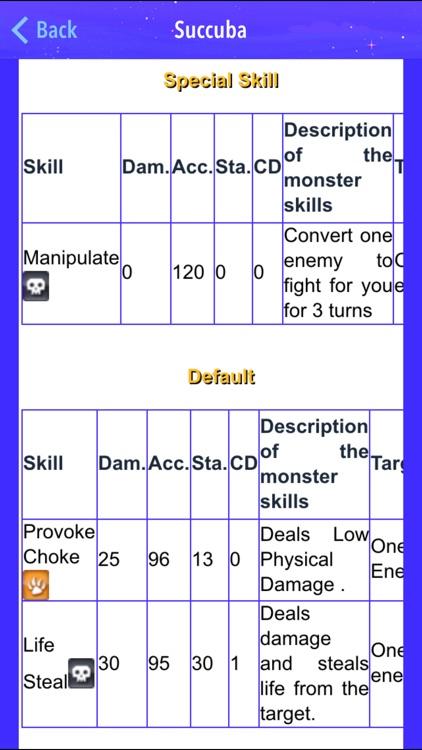 Breeding Guide for Monster Legends 2017 screenshot-4