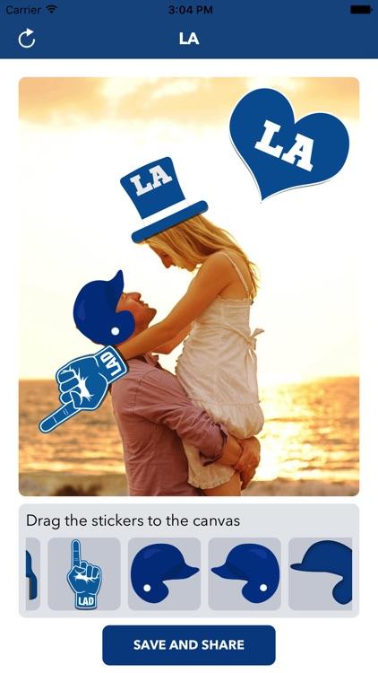 Los Angeles D Baseball Stickers & Emojis