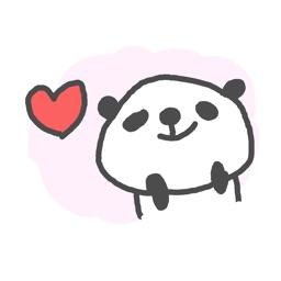 Color Cute Panda Stickers!!