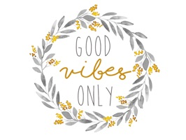 Good Vibes Watercolor Messages Stickers