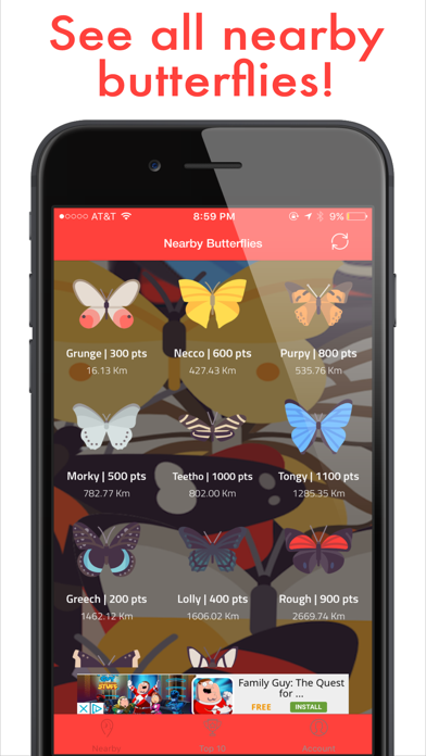Butterfly Go! - Travel and catch them all screenshot three