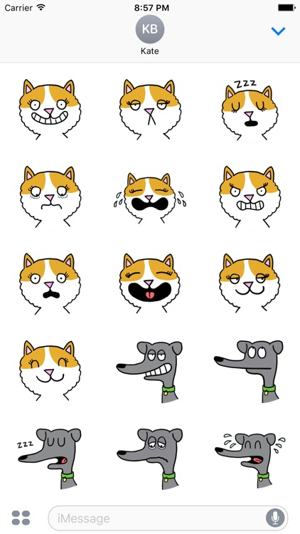 Love Dog & Cat. Stickers Pack