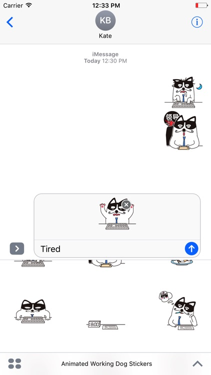 Animated Working Dog Stickers For iMessage