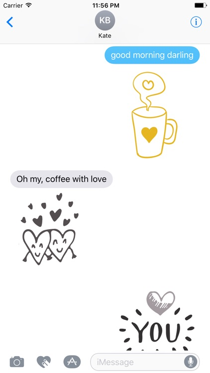 LOVe DOODLe Stickers for iMessage