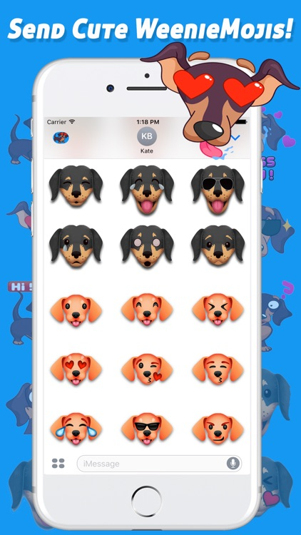 iWeenieMojis - Dachshund Emoji Doxin Keyboard