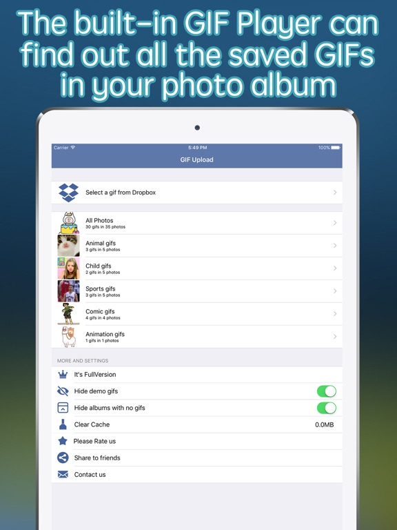 Screenshot #2 for GIF Upload for Instagram - upload your gifs to Ins
