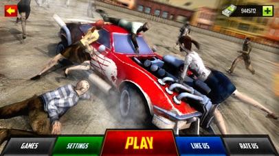 Zombie Smash Car Derby - Zombies Tsunami Killer 3D screenshot one
